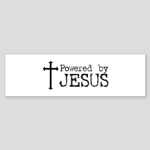 Powered by Jesus with Cross Bumper Sticker