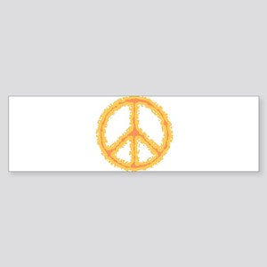 Flaming Peace Sign Bumper Sticker