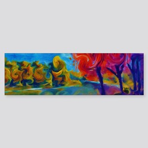 Abstract Landscape Art Painting Bumper Sticker