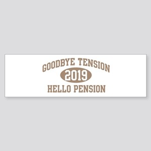 Hello Pension 2019 Bumper Sticker