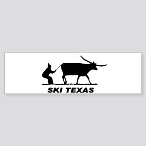 Ski Texas Bumper Sticker