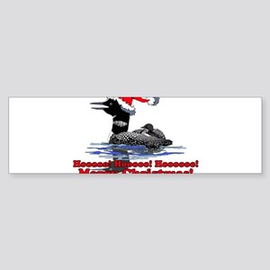 Christmas Loon Sticker (Bumper)