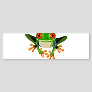 Colorful Tree Frog with Orange Eyes & Toes Bumper