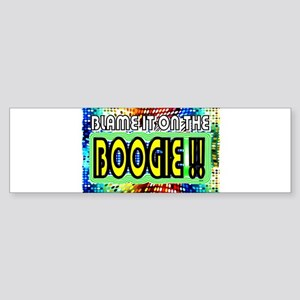 blame it on the boogie Sticker (Bumper)