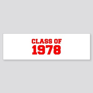 CLASS OF 1978-Fre red 300 Bumper Sticker