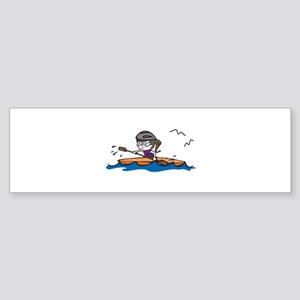 Kayak Girl Bumper Sticker