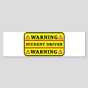 Warning Student Driver Bumper Sticker