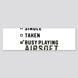 Single Relationship Airsoft Airsoft Bumper Sticker