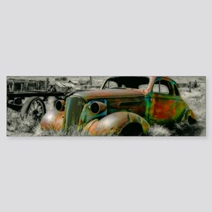 1937 Master Coupe wreck Bumper Sticker