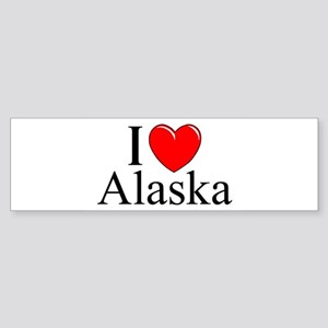 """I Love Alaska"" Bumper Sticker"