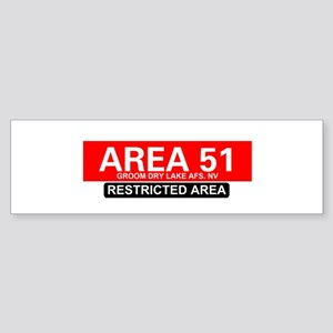 AREA 51 - GROOM LAKE Bumper Sticker