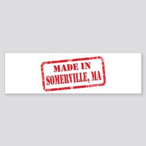 MADE IN SOMERVILLE, MA Sticker (Bumper)