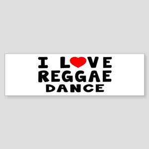I Love Reggae Sticker (Bumper)