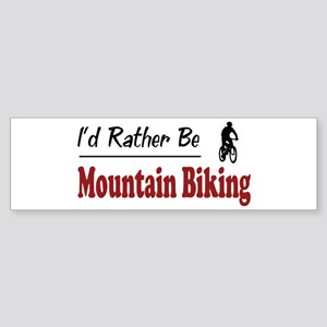 Rather Be Mountain Biking Bumper Sticker