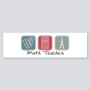 Math Teacher (Squares) Bumper Sticker