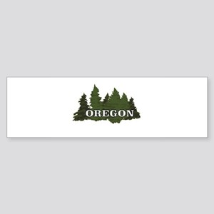 oregon trees logo Bumper Sticker