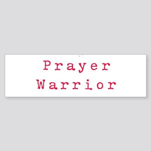 PrayerWarriorred Bumper Sticker