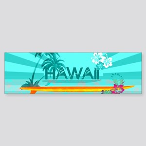 Hawaii Emerald sun fish ocean Bumper Sticker