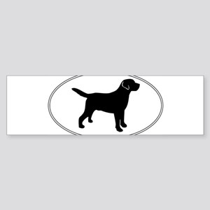 Black Lab Outline Sticker (Bumper)