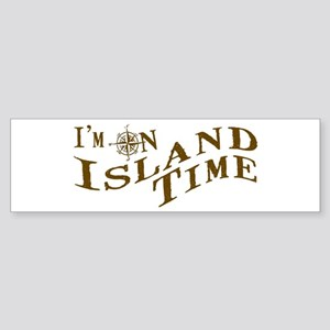 Island Time Sticker (Bumper)