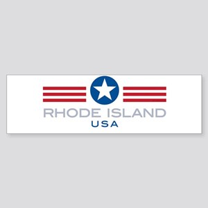 Rhode Island-Star Stripes: Bumper Sticker