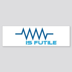 Resistance is Futile Sticker (Bumper)