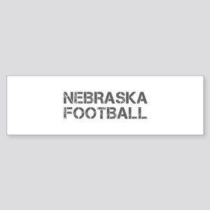NEBRASKA football-cap gray Bumper Sticker