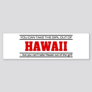 'Girl From Hawaii' Sticker (Bumper)