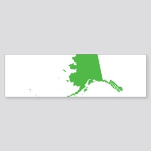 Alaska State Shape Outline Sticker (Bumper)
