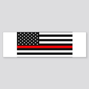 Thin Red Line - American United Sta Bumper Sticker
