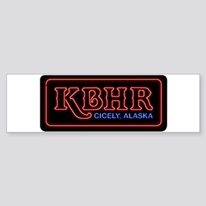 KBHR Neon Sign Bumper Sticker