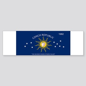 Conch Republic Plate Bumper Sticker