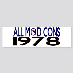 ALL MOD CONS 1978 Sticker (Bumper)