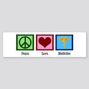 Peace Love Medicine Sticker (Bumper)