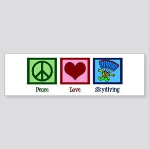 Peace Love Skydiving Sticker (Bumper)