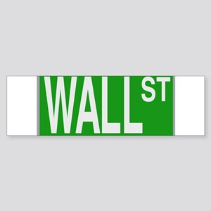 Wall Street Sign Bumper Sticker