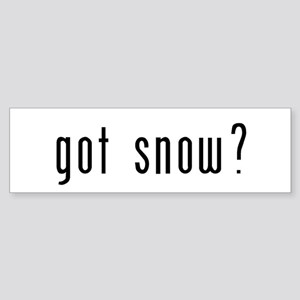got snow? Sticker (Bumper)