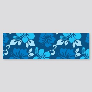Shades of blue Hawaiian hibiscus Sticker (Bumper)