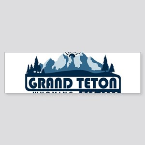 Grand Teton - Wyoming Bumper Sticker