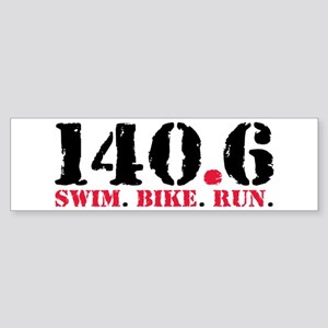 140.6 Swim Bike Run Sticker (Bumper)