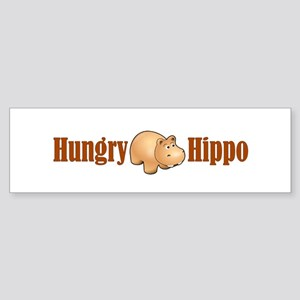 Hungry Hippo Bumper Sticker
