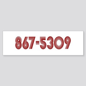 867-5309 Bumper Sticker