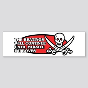 Beatings will Continue Bumper Sticker