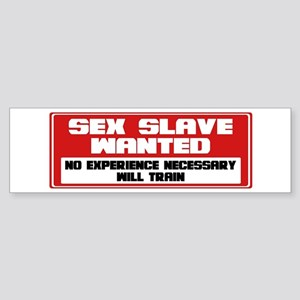 Sex Slave Sticker (Bumper)