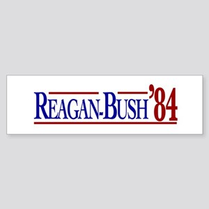 Reagan-Bush 84 Presidential E Sticker (Bumper)