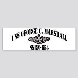 USS GEORGE C. MARSHALL Sticker (Bumper)