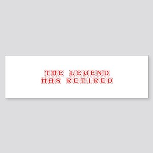 LEGEND-HAS-RETIRED-kon-red Bumper Sticker