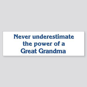 Great Grandma Power Bumper Sticker
