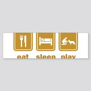 Eat Sleep Play Bumper Sticker