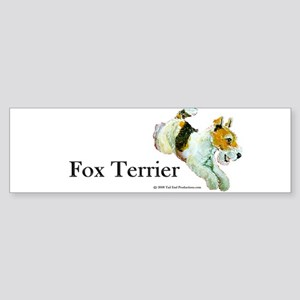 Flying Fox Terrier Bumper Sticker